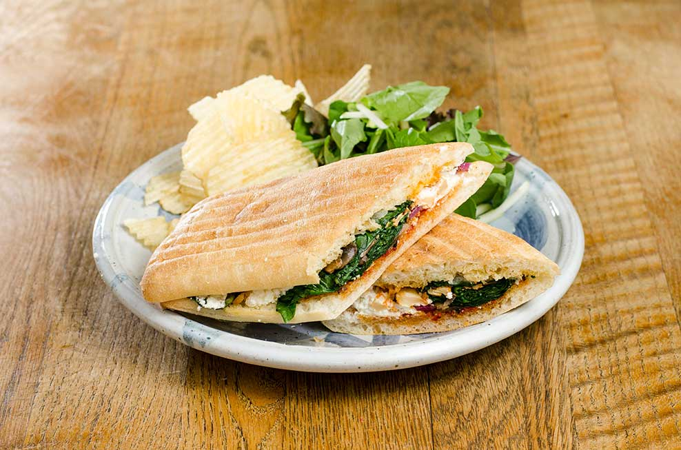 Goat Cheese & Roasted Vegetable Sandwich - First Slice Pie CafeFirst ...