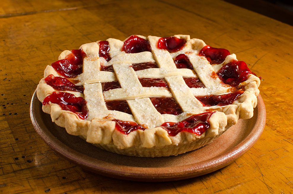 Michigan sour cherry pie