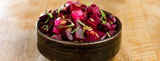 Roasted Beet & Poached Pear Salad